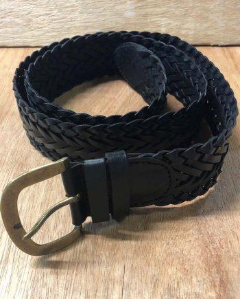 Leather Med Braided Belt