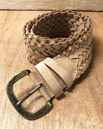 Leather Braded Med Belt