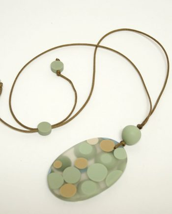 Mint Resin Necklace