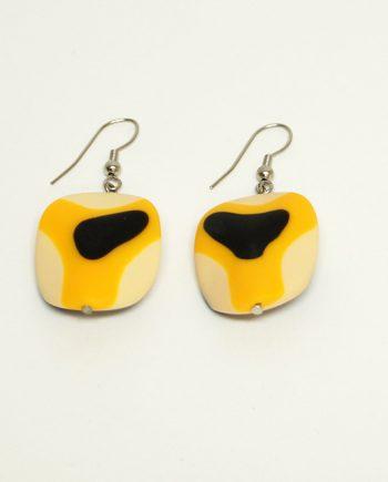 Mustard Resin Earrings