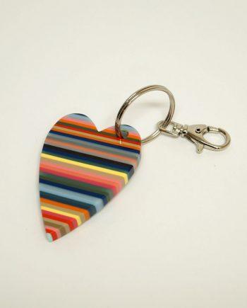 Heart Resin Keychain